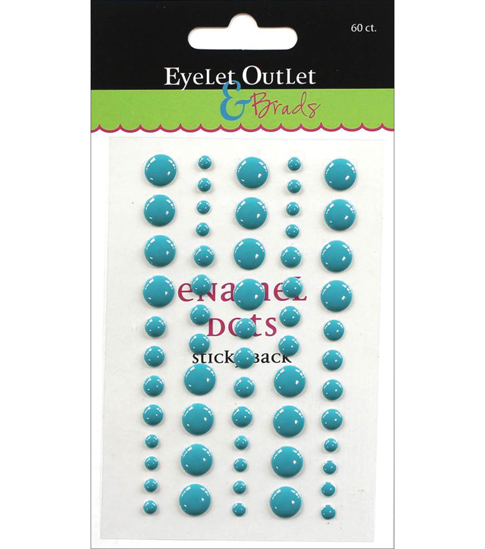 Eyelet Outlet 60ct Enamel Dots