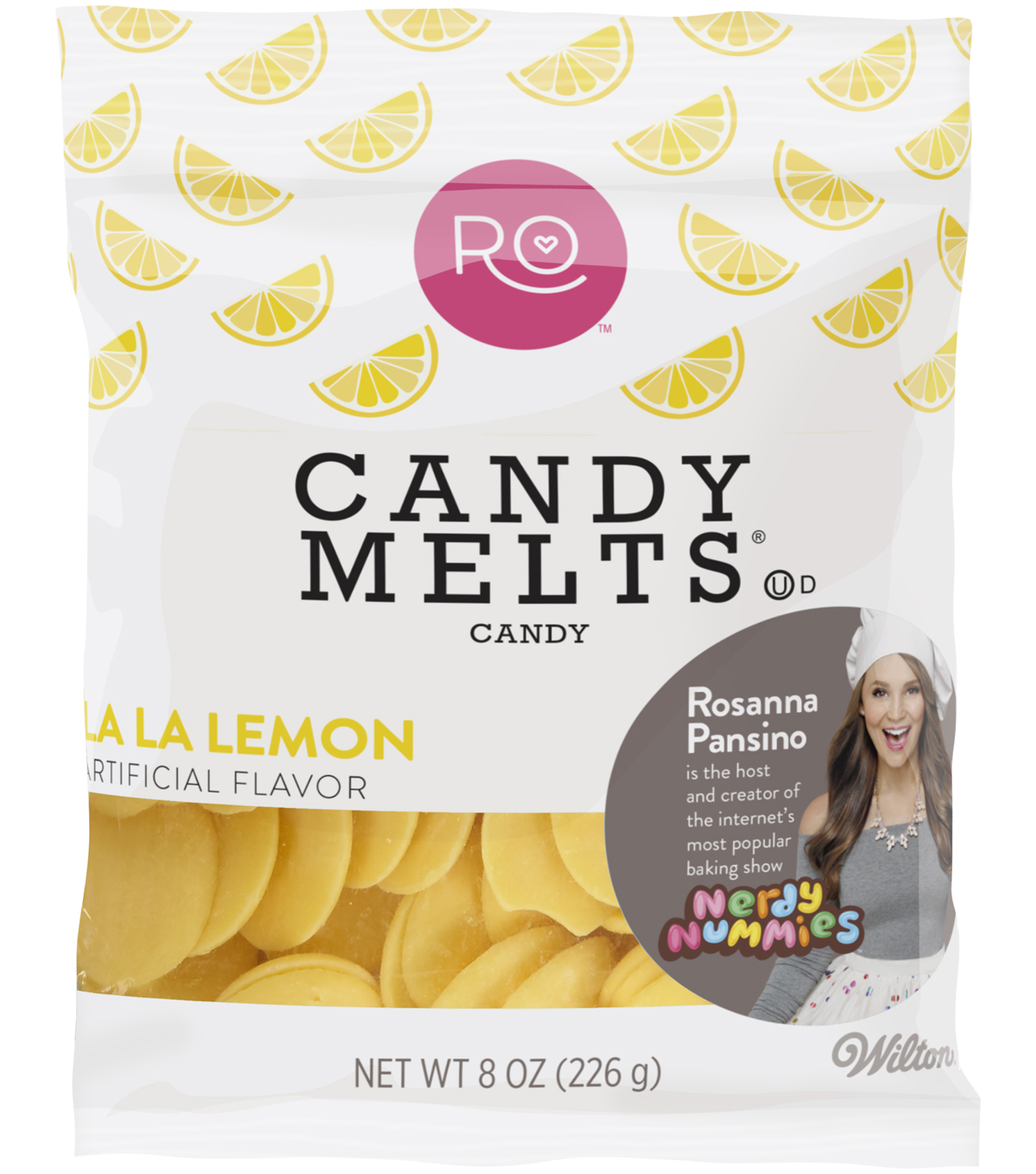 Rosanna Pansino By Wilton 8oz Candy Melts Candy-La La Lemon
