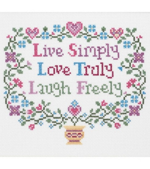 Janlynn Live, Love, Laugh Cntd X-Stitch Kit