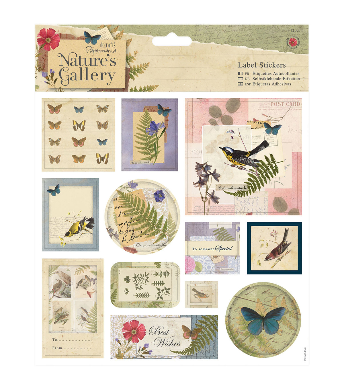 Papermania Nature\u0027s Gallery Stickers-Labels