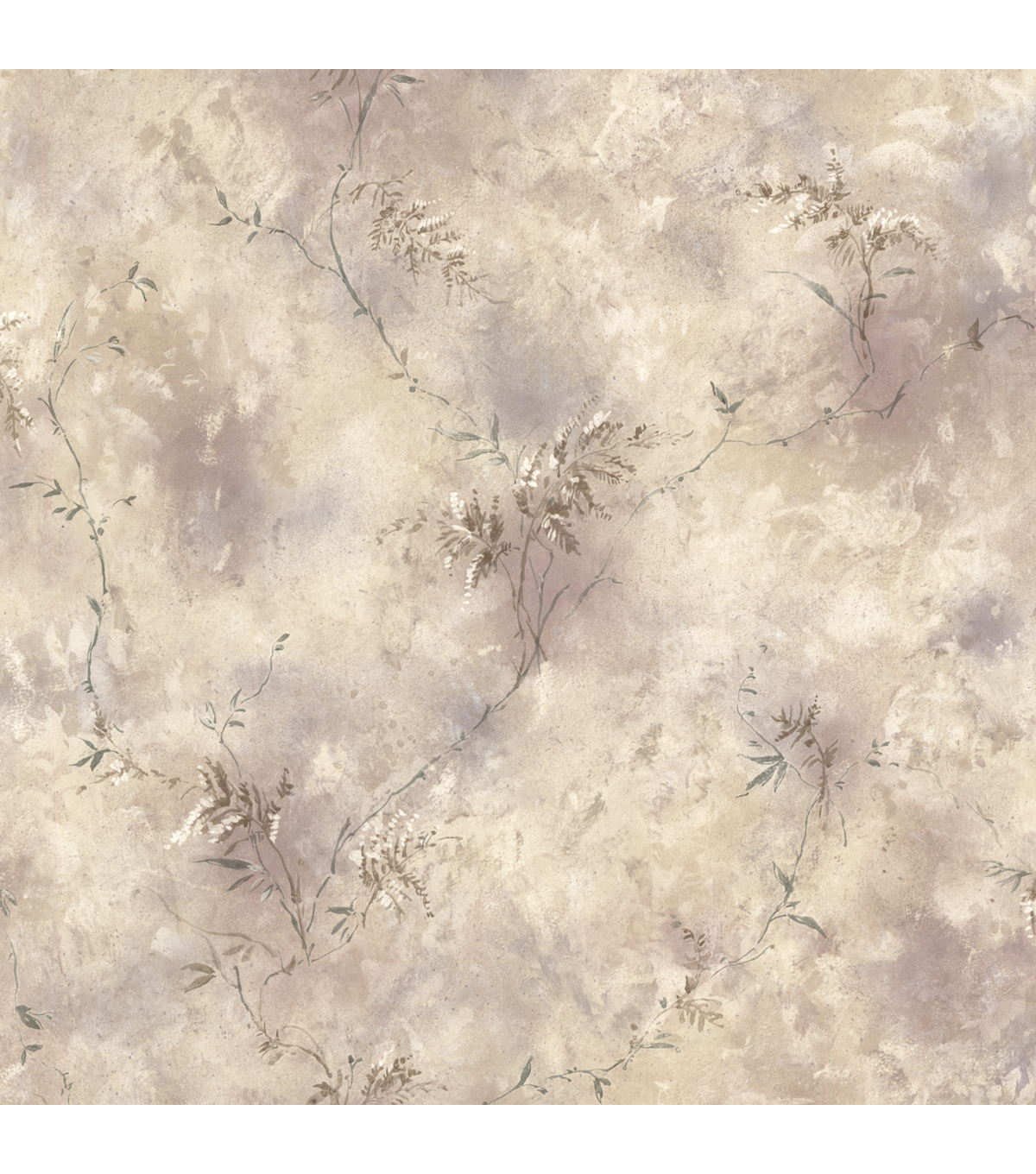 Bertrand Taupe Satin Fern Texture Wallpaper Sample