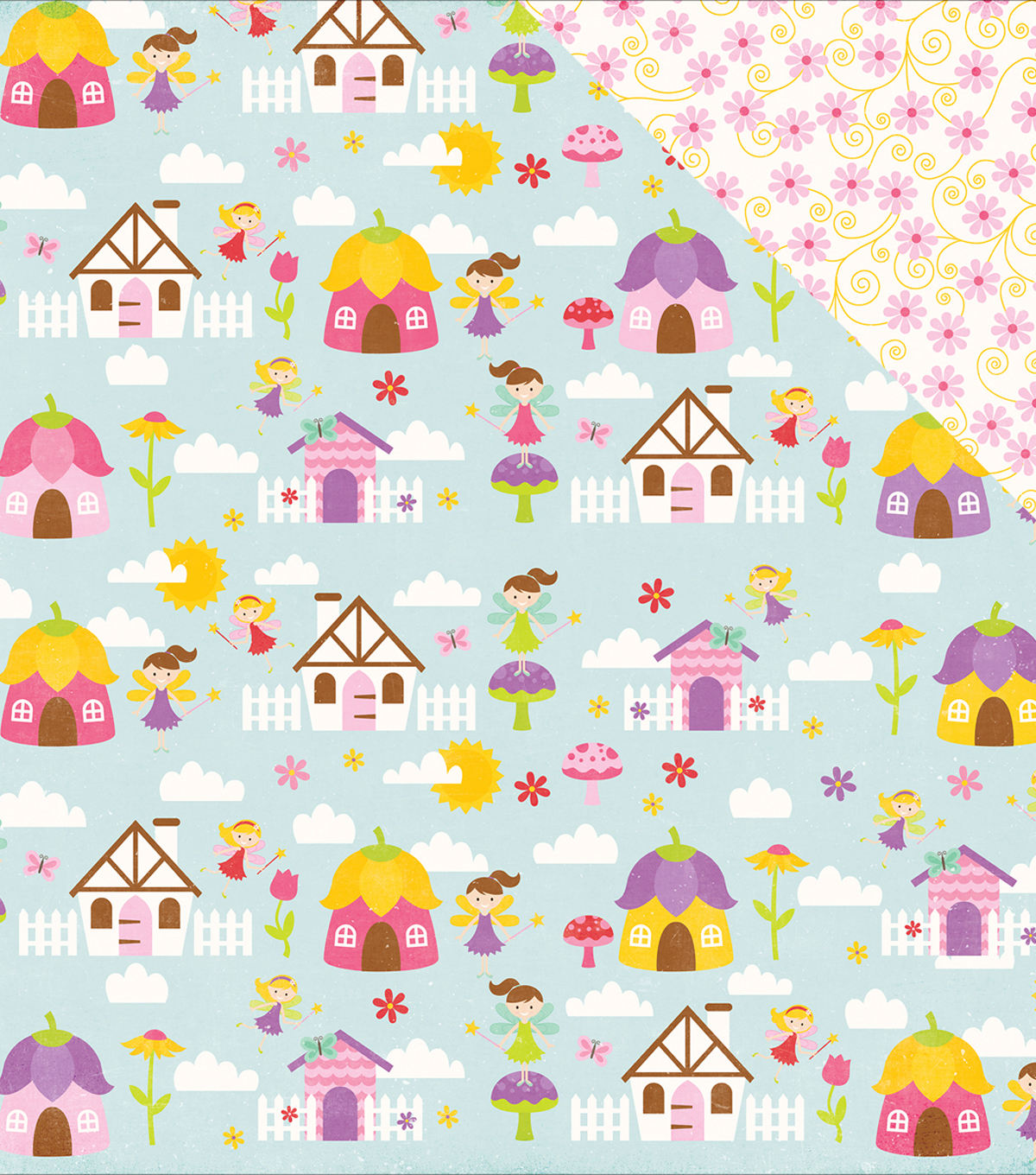 "Perfect Princess Double-Sided Cardstock 12""X12""-Fairy Village"