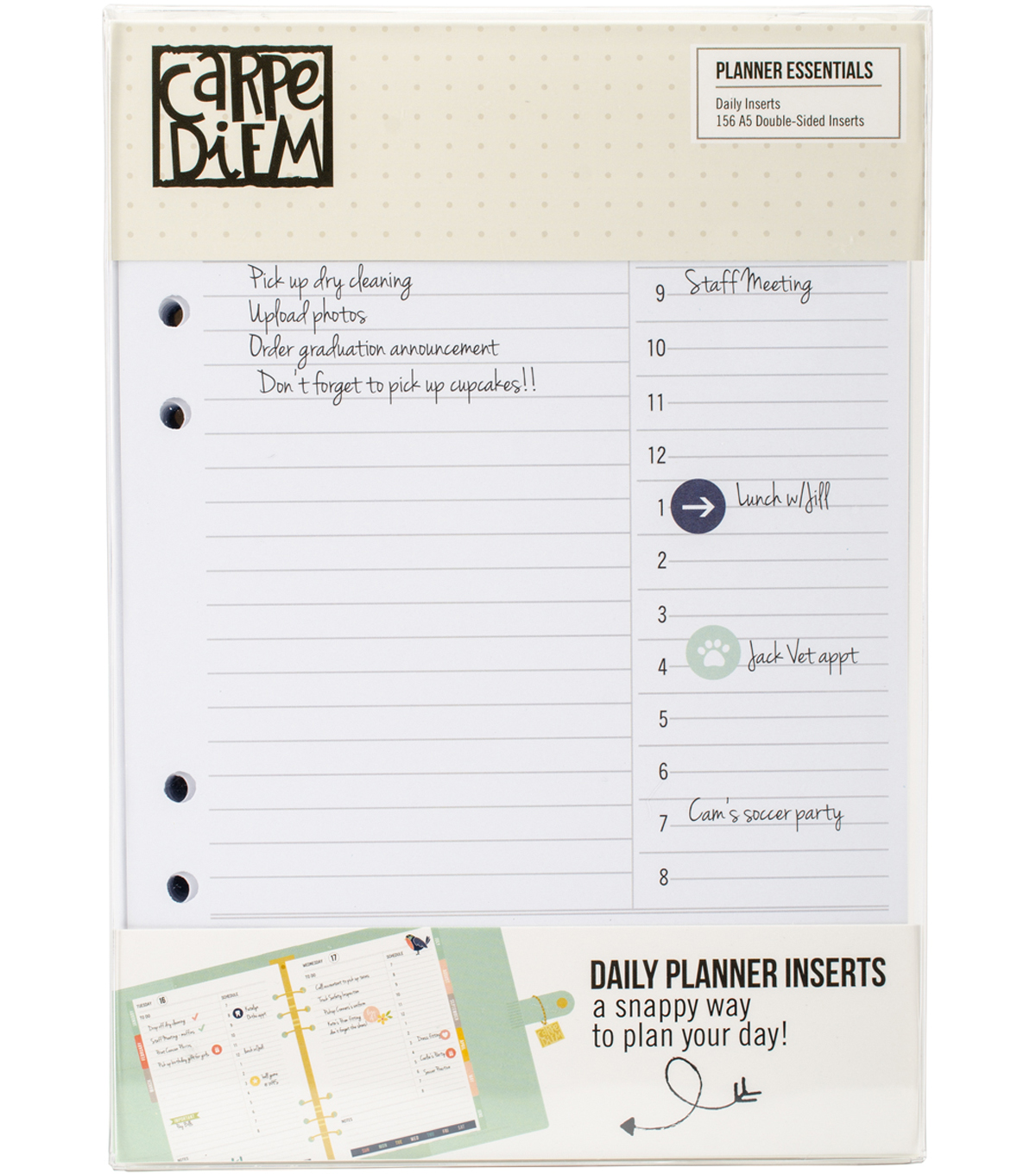 Planner Essentials Double-Sided A5 Inserts 156/Pkg-Daily
