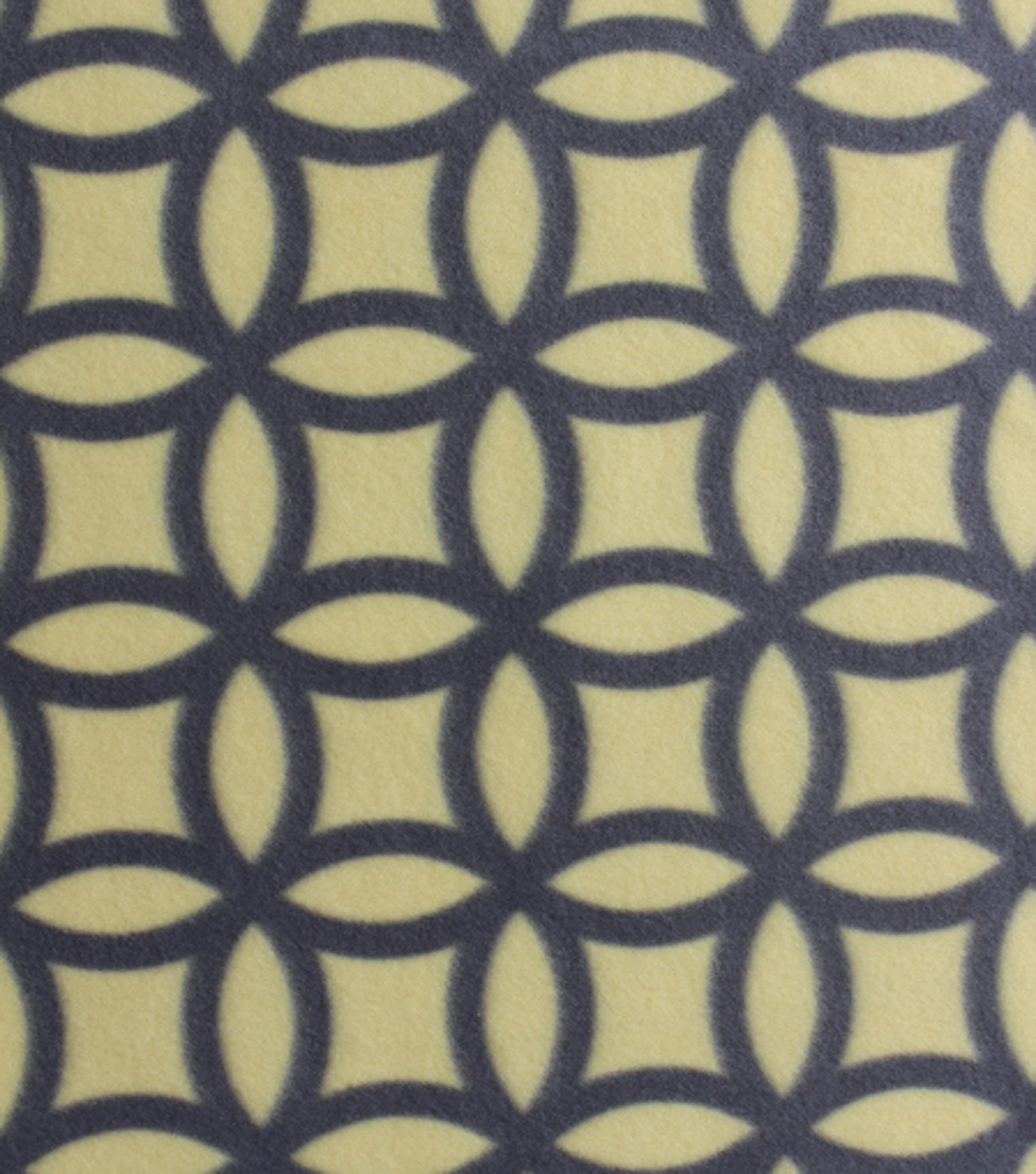 Blizzard Fleece Fabric - Lemon Drop Geo