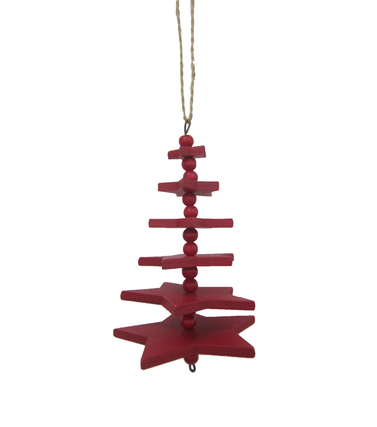 Maker\u0027s Holiday Christmas Handmade Holiday Star Tree Ornament-Red
