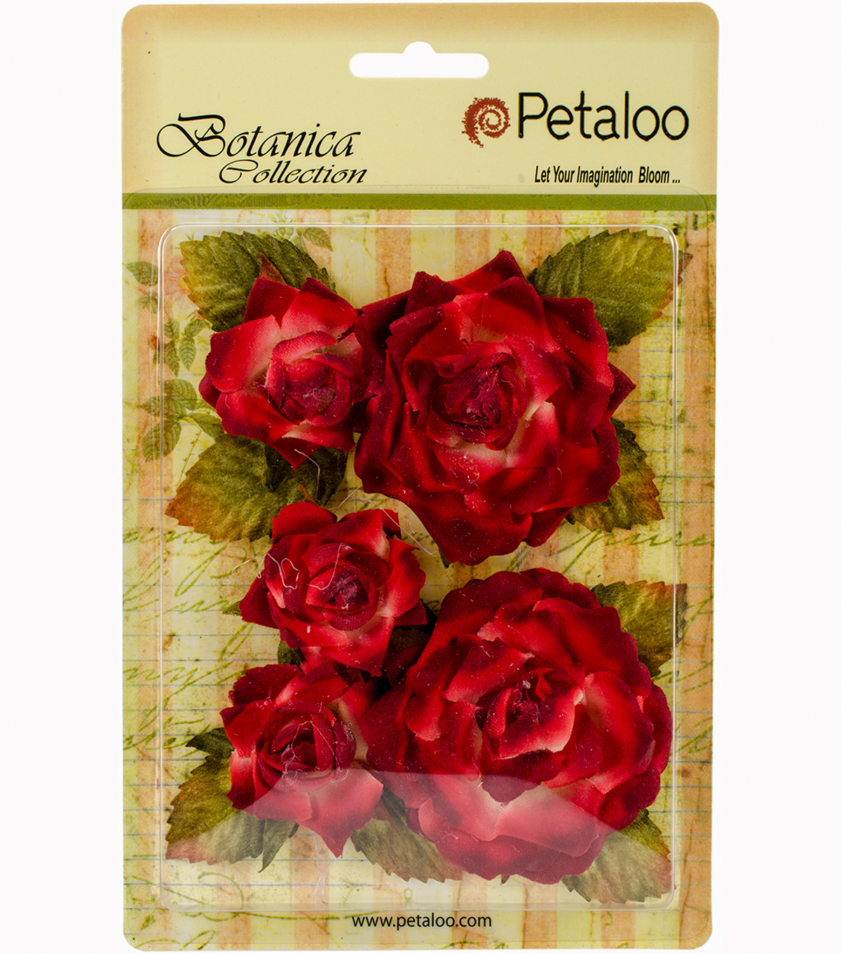 "Botanica Garden Roses 1.5"" To 2.5""-Red/Burgundy"