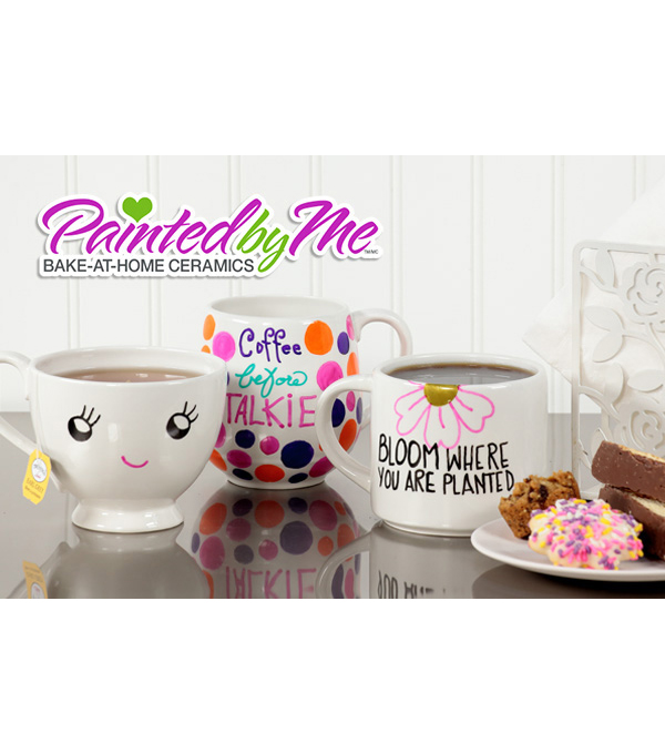 Painted by Me Bake-At-Home Ceramics Mug Tall Skinny Set of 6