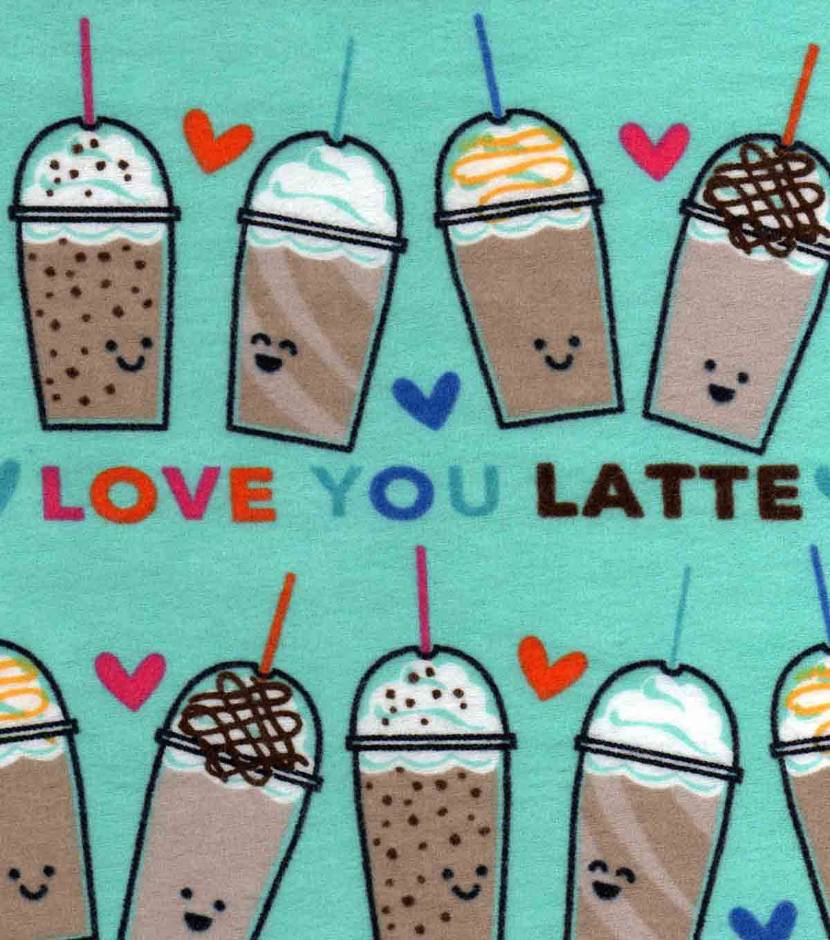 "Snuggle Flannel Fabric 42""-Love You Latte"