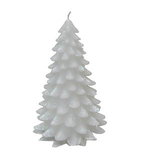 Maker\u0027s Holiday Large White Christmas Tree Candle
