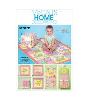 McCall\u0027s Pattern M7372 Nursery Blanket, Pillow & Accessories