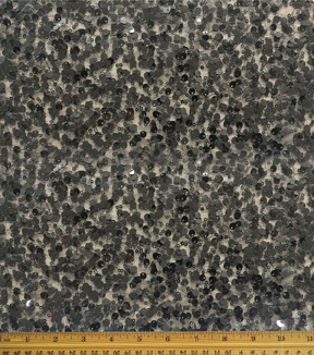 Casa Embellish Sequined Fabric 55\u0022-All Over Black