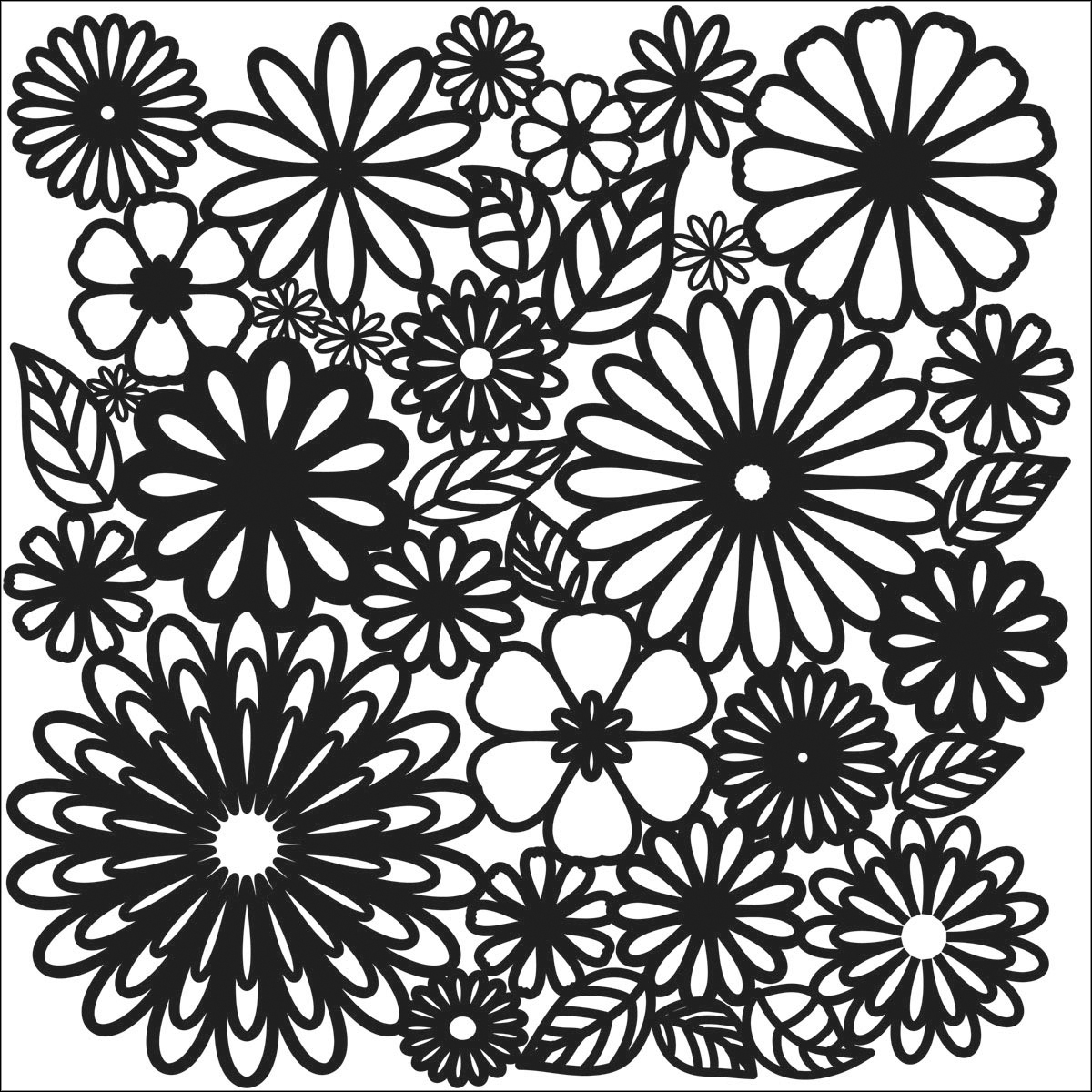 Crafter\u0027s Workshop Templates Flower Frenzy