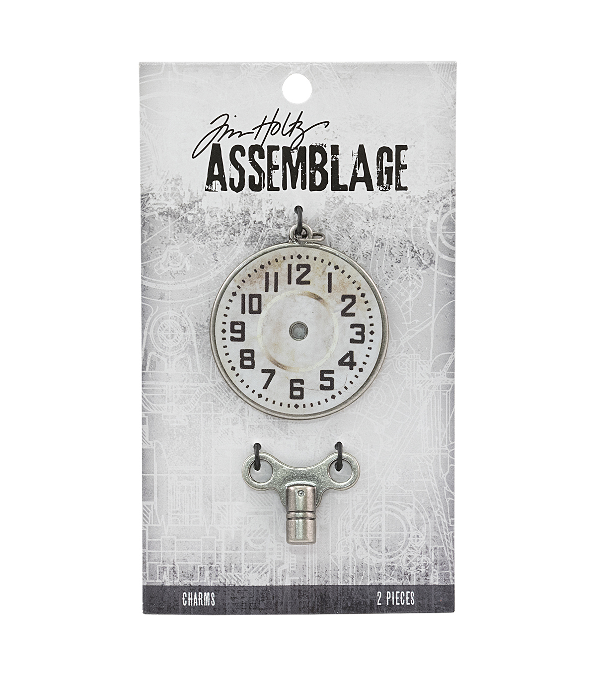 Tim Holtz® Assemblage Charms-Clock Key & Timepiece