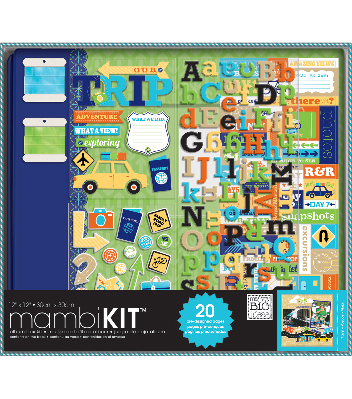 Me & My Big Ideas Boxed Album Kit 12\u0022X12\u0022-Our Adventure