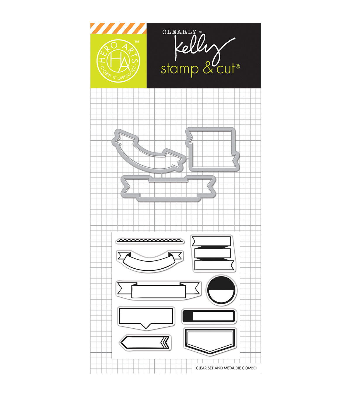 Hero Arts® Kelly\u0027s Stamp & Cut-Flags
