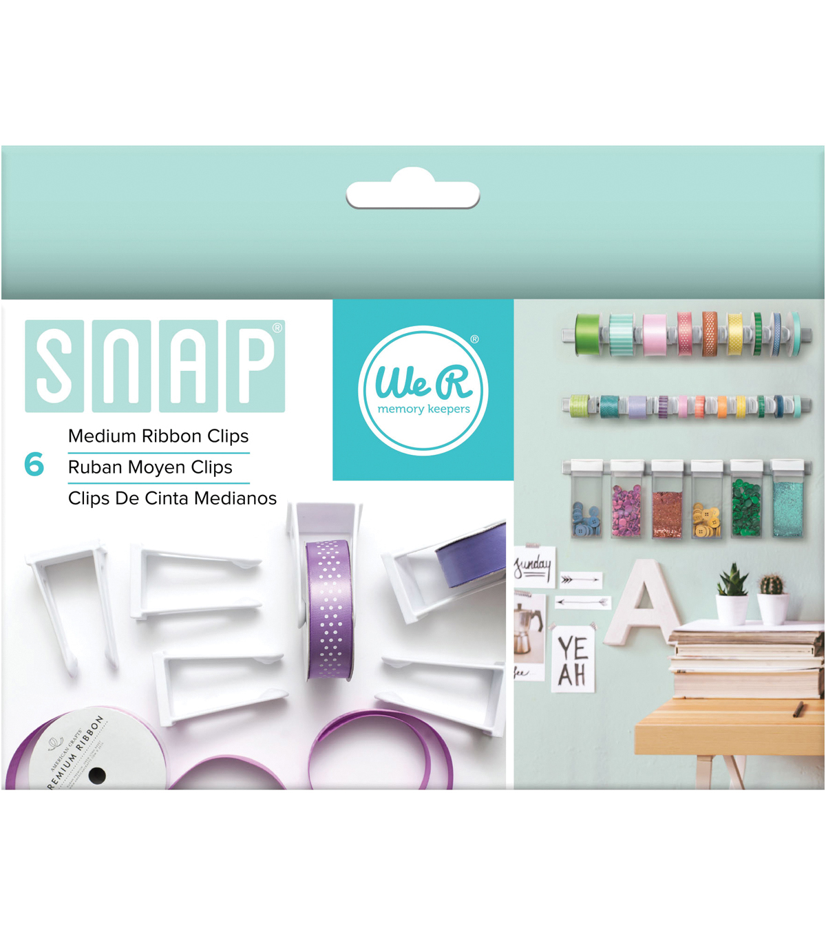 We R Memory Keepers™ Snap Storage 6ct Medium Ribbon Clips