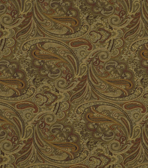 "Home Decor 8""x8"" Fabric Swatch-Robert Allen Patna Paisley Spice Fabric"