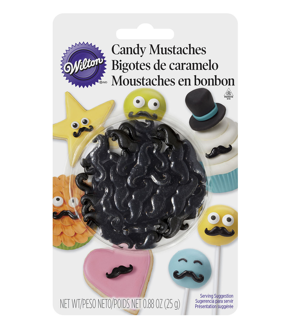 Wilton® 0.88 oz. Candy Mustache Decorations
