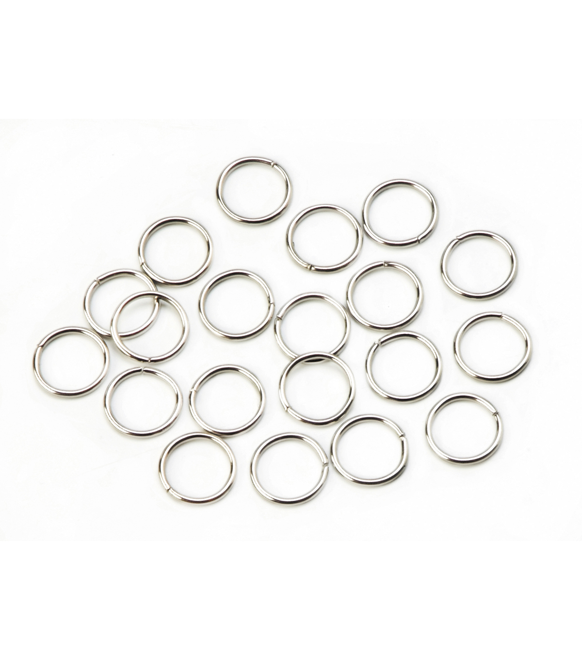 10mm Brass Jump Ring, Nickel Finish
