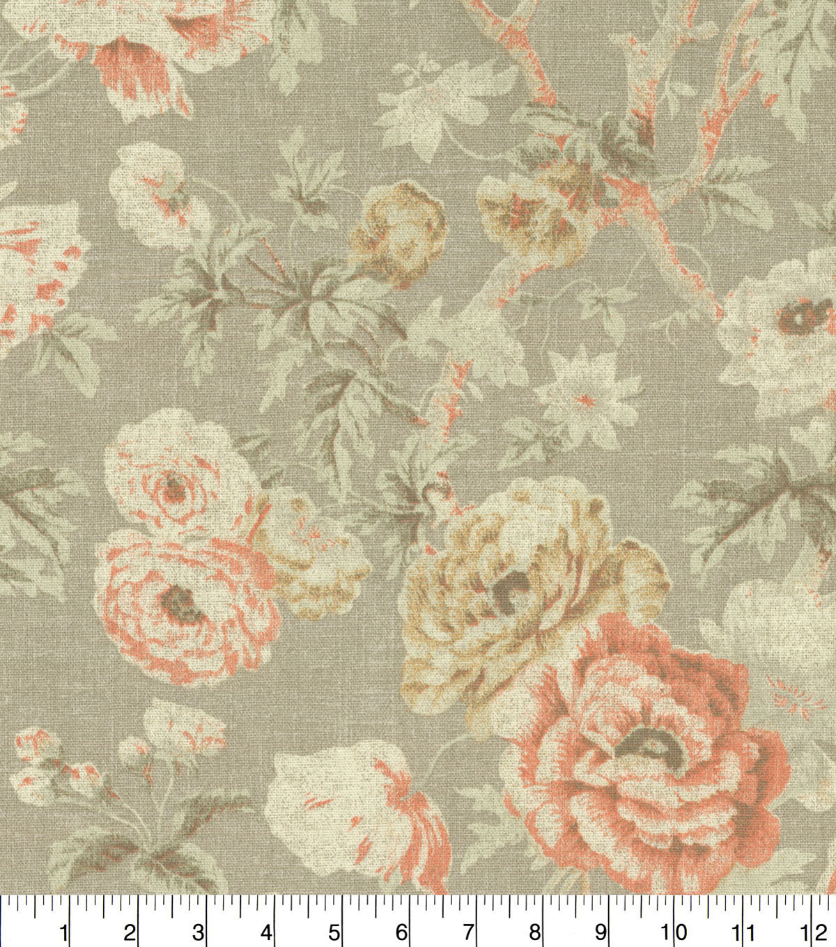 Waverly Upholstery Fabric 54\u0022-Among the Roses Bloom