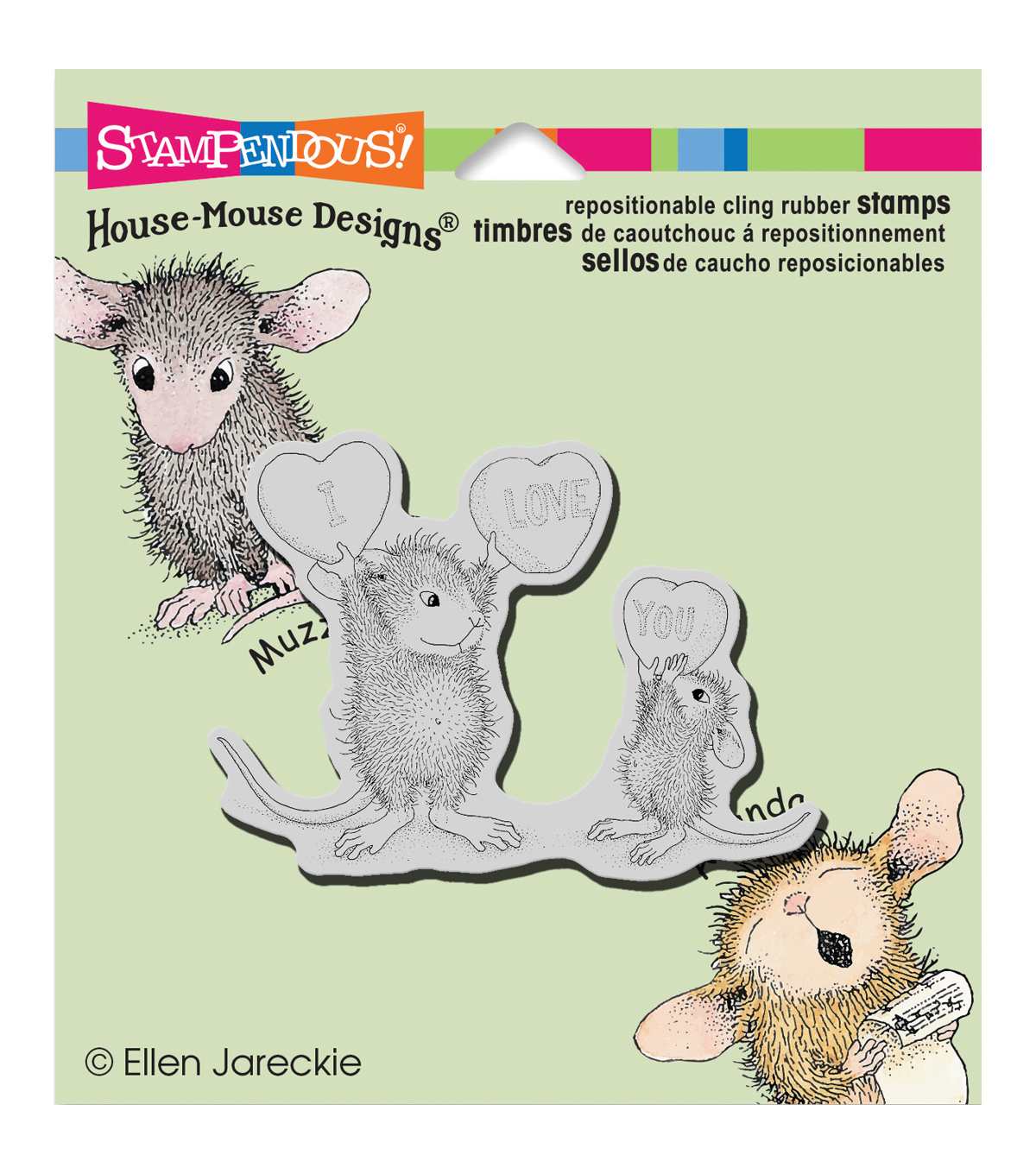 Stampendous® House Mouse Cling Stamp-Love You Candy
