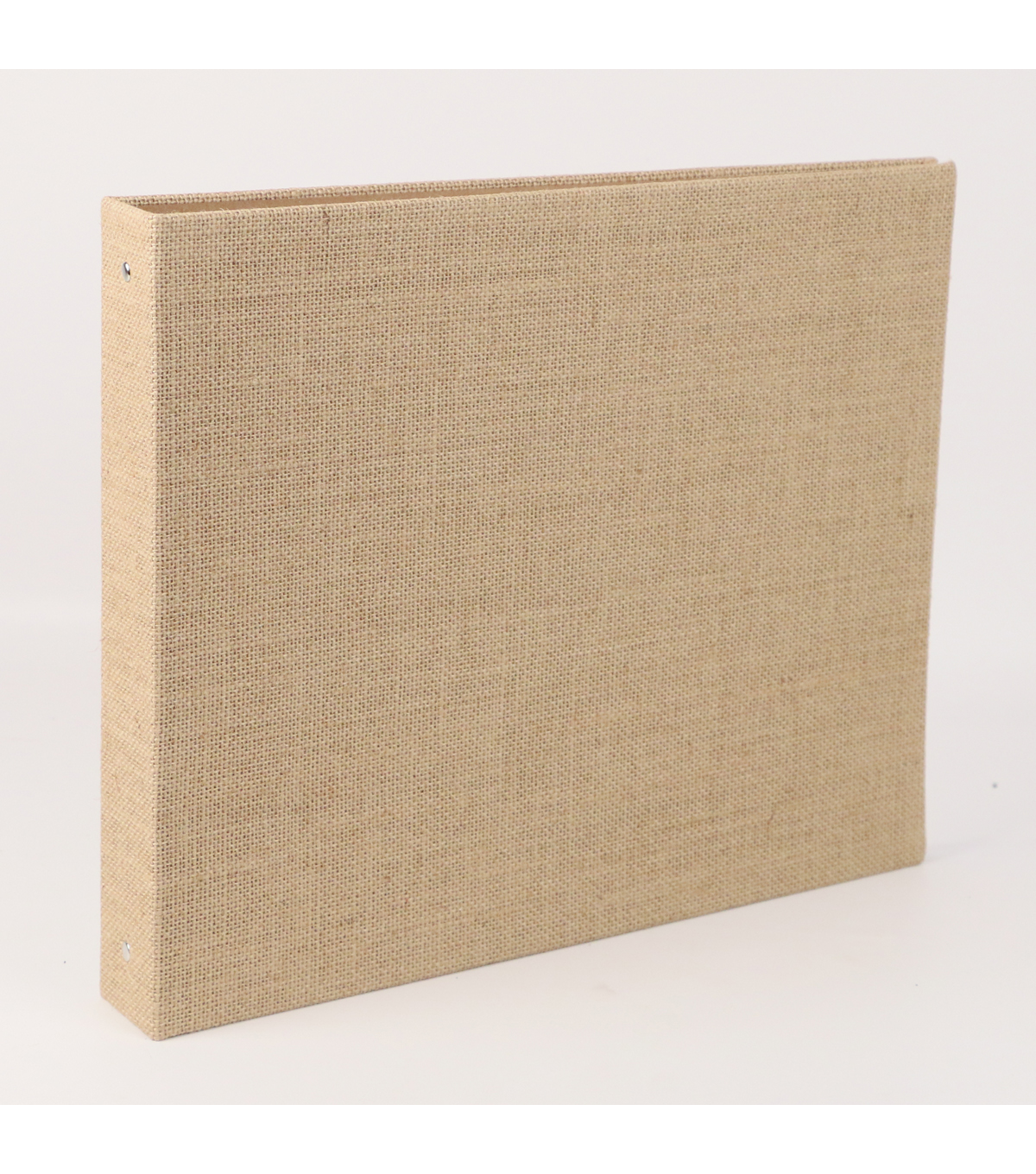 "DCWV 12""x12"" 3-Ring Burlap-Covered Memory Album"
