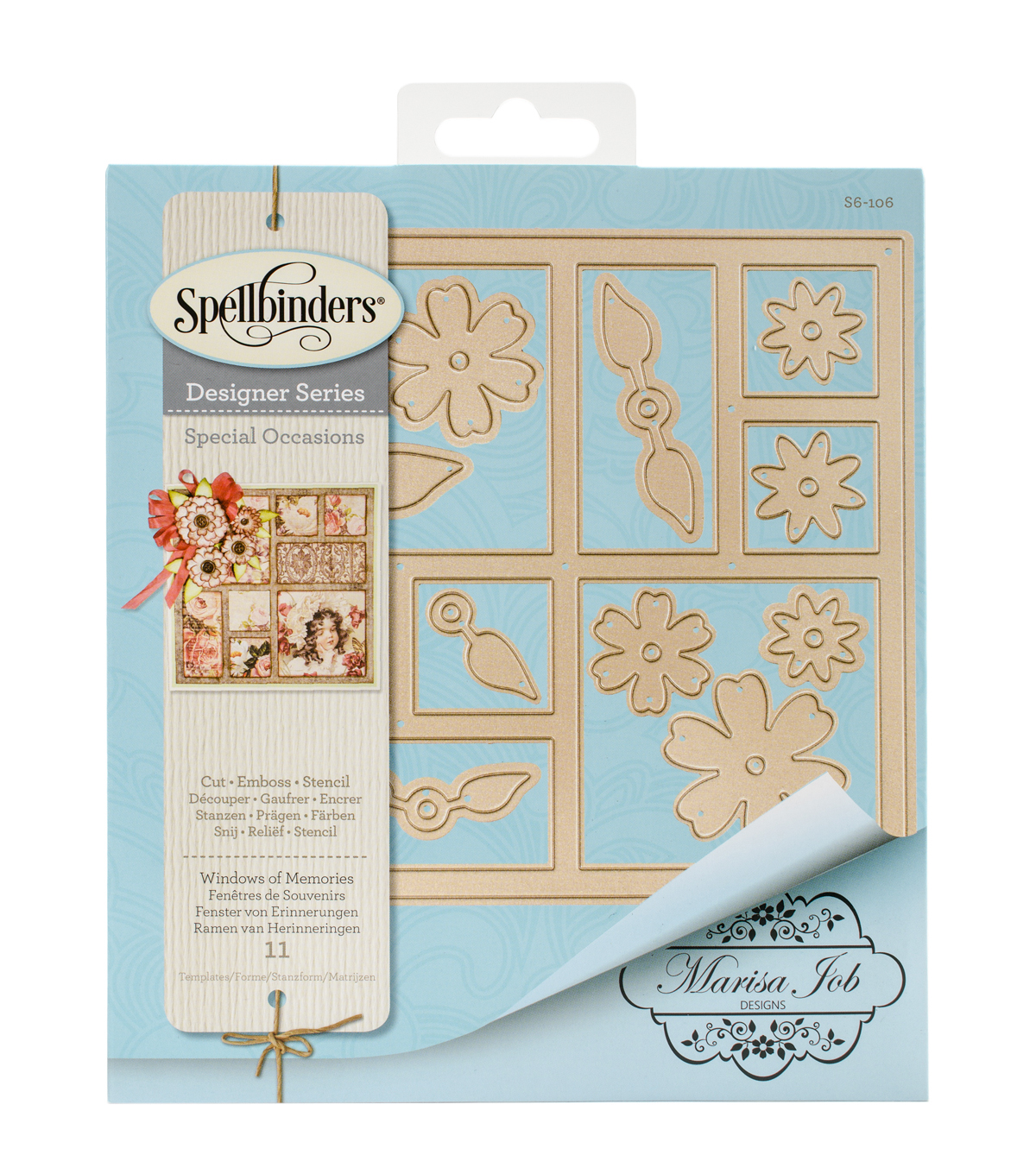 Spellbinders® Card Creator 11 Pack Etched Dies-Windows of Memories