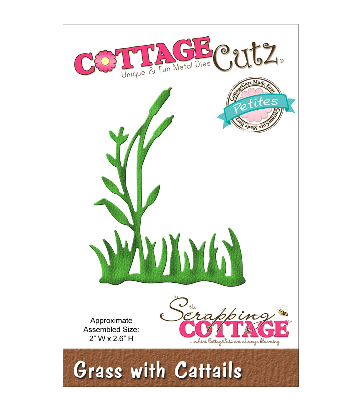 CottageCutz Petites Die 2\u0022X2.6\u0022-Grass W/Cattails