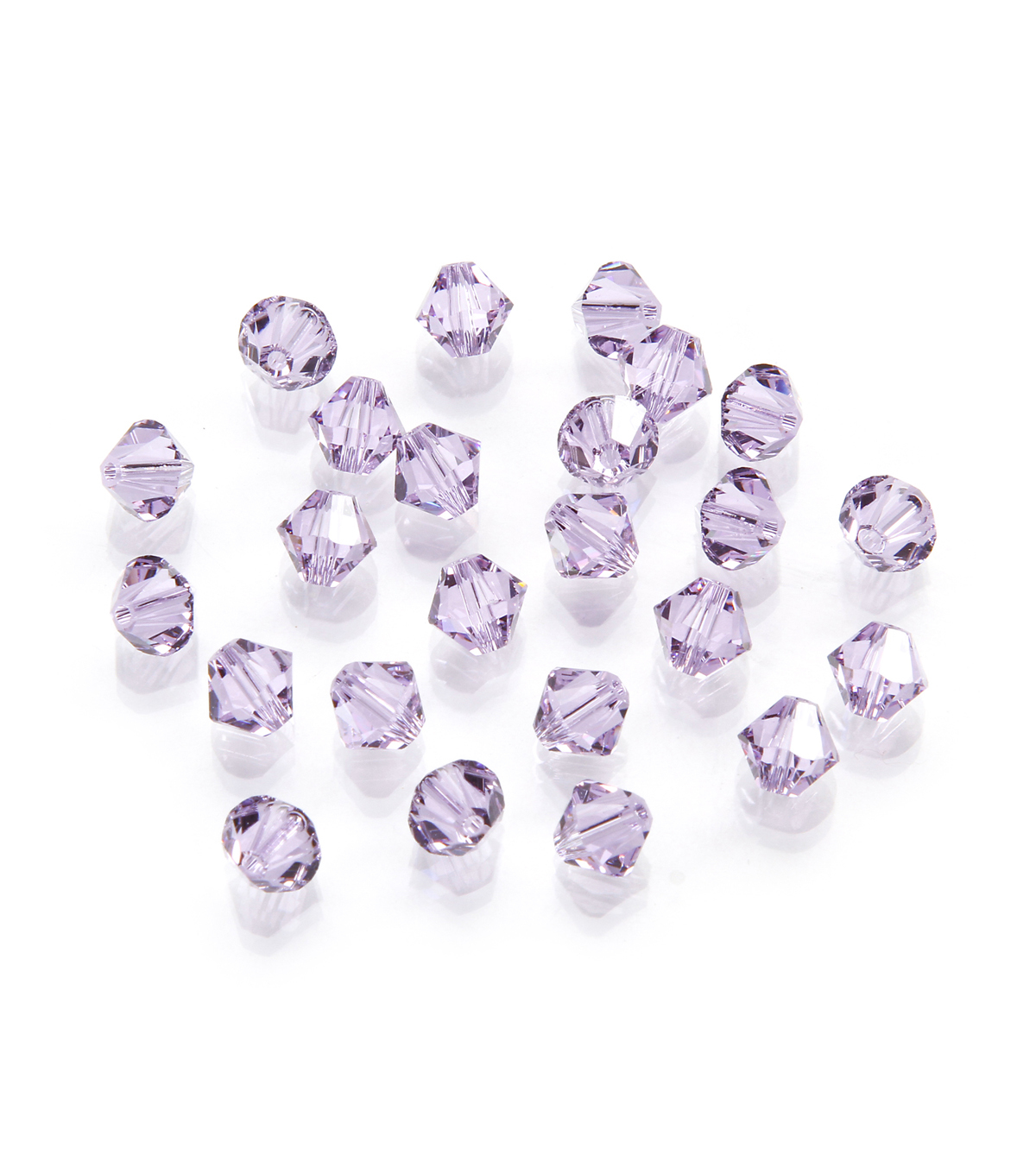 Swarovski Faceted Bicone Crystal Beads, Violet, 6mm, 24pc/pkg