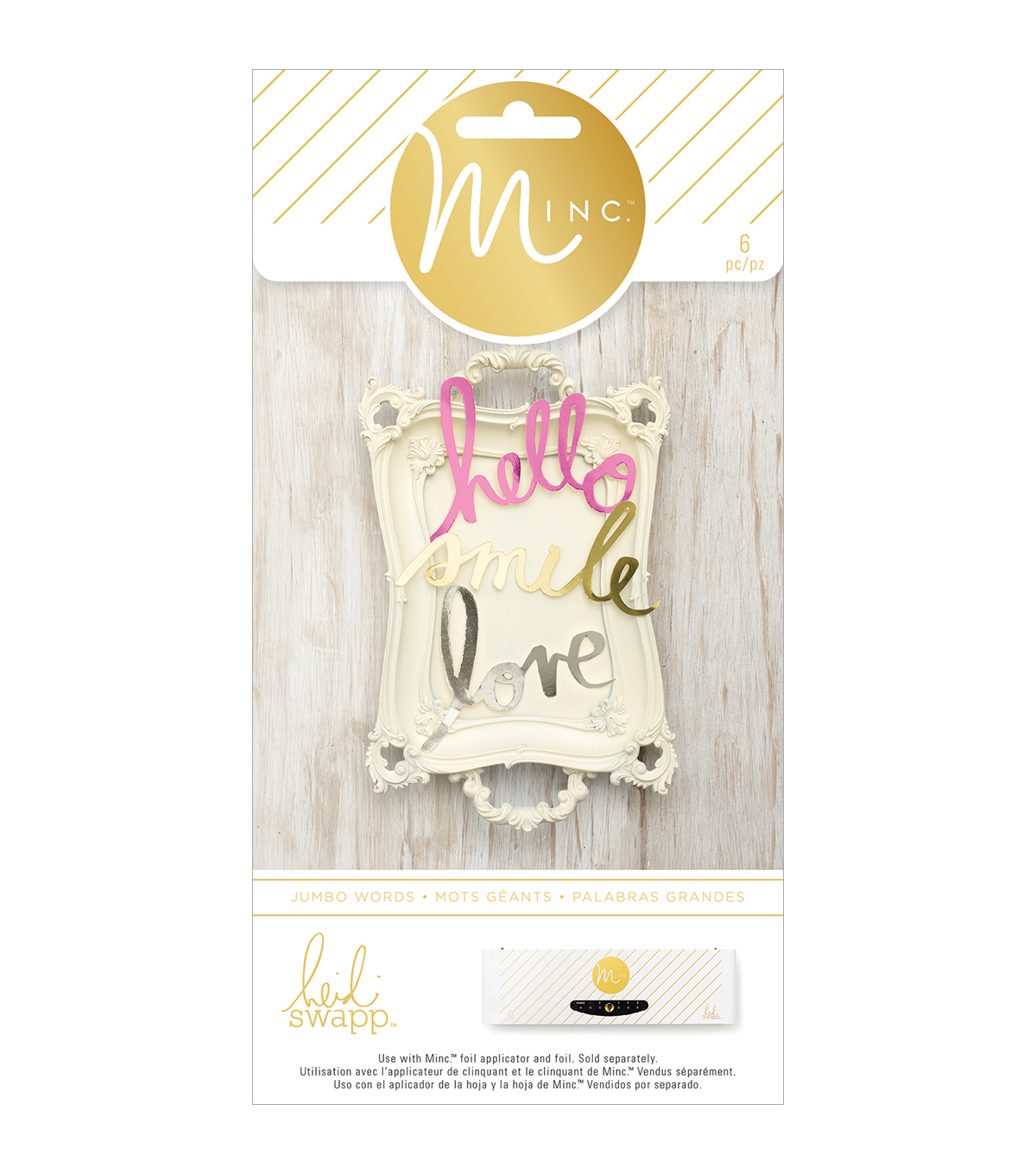 Heidi Swapp Minc Die-Cut Jumbo Words 6/Pkg