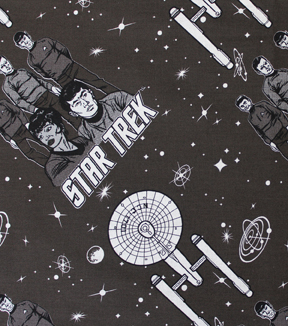 "Star Trek™ Cotton Fabric 44""-Characters and Ships"