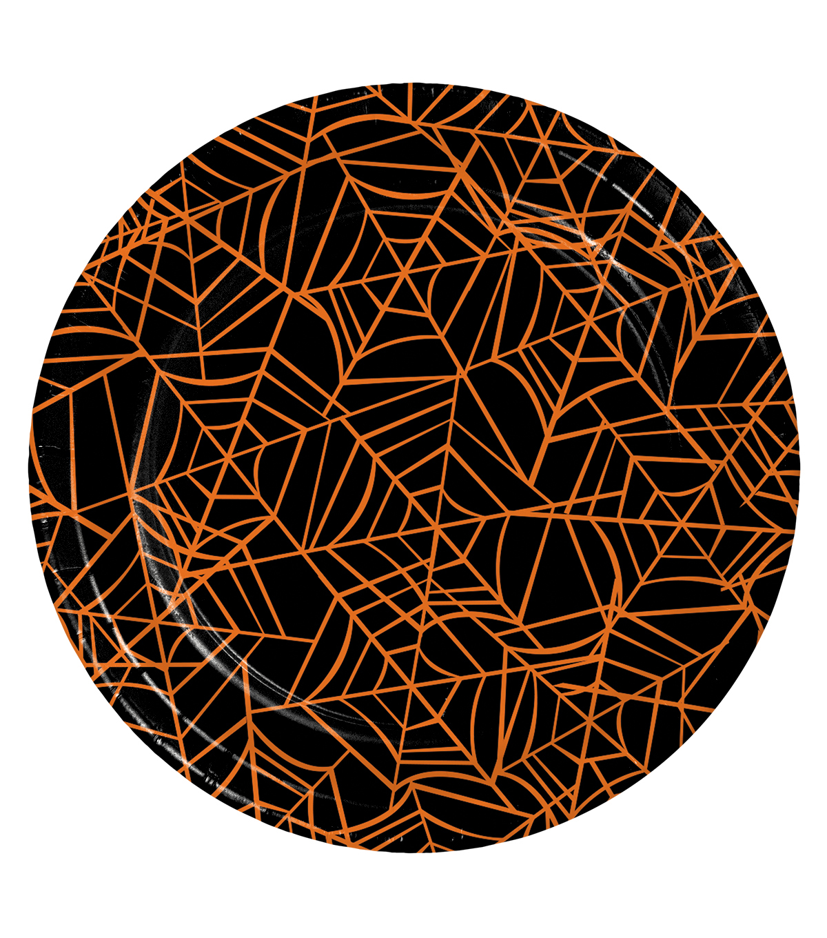 Maker's Halloween 8 Pack 7'' Lunch Plates-Spider Web
