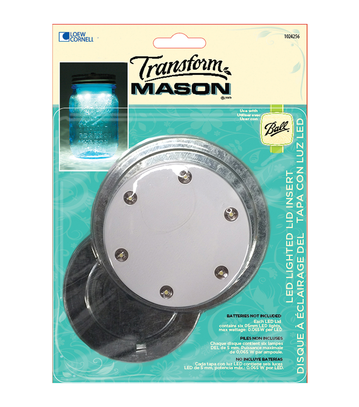 Transform Mason Jar LED Lid Insert-Dual Pack