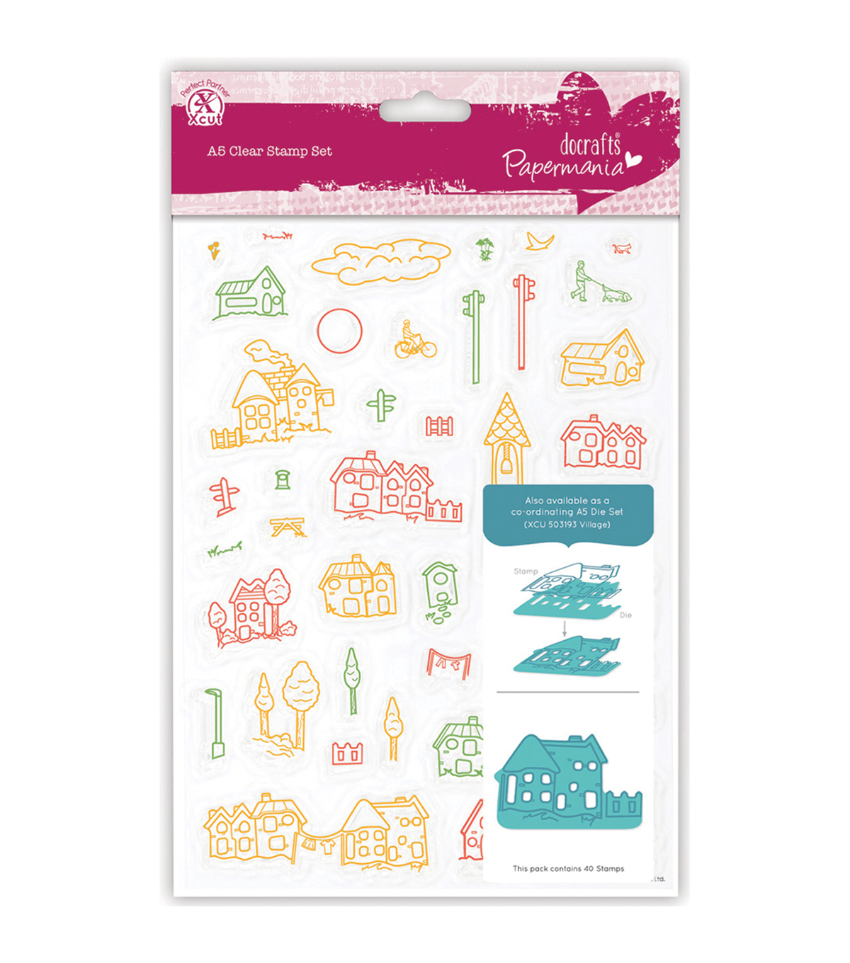 Papermania Village A5 Clear Stamps