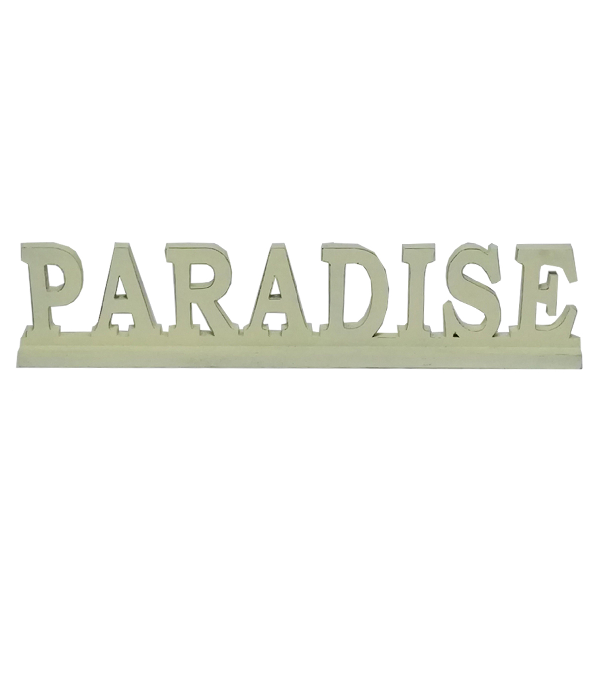 Escape To Paradise Wooden Table Decor-Paradise