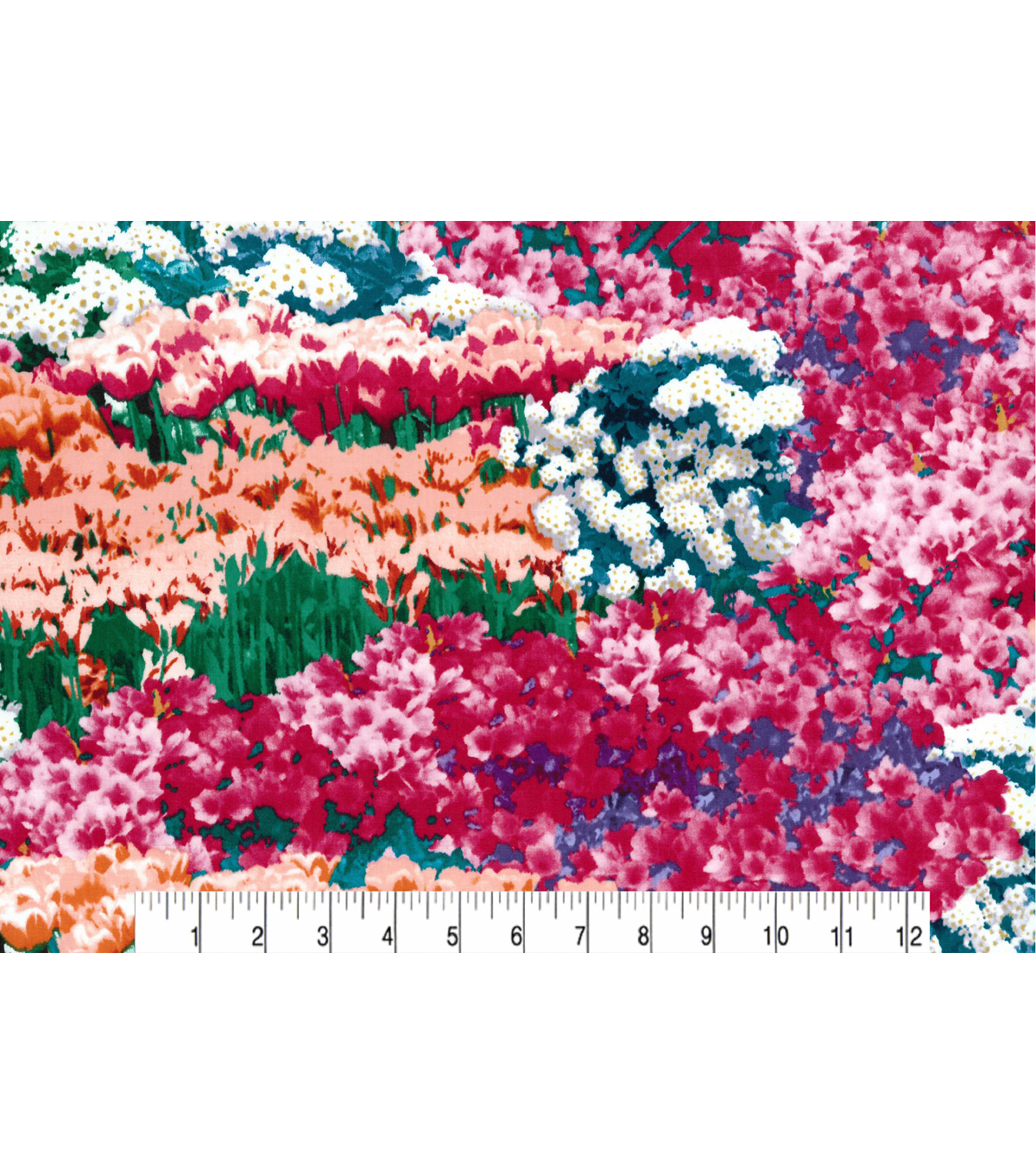 Two Daughters™ Modern Florals Cotton Fabric 43\u0022-Lush Garden