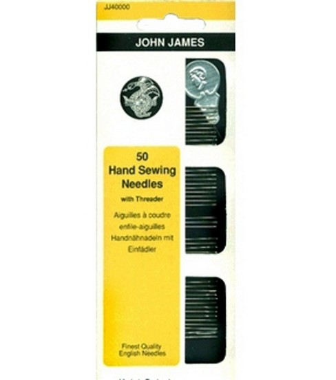John James Hand Needle Assortment With Threader-50/Package