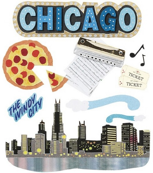 Jolee's Boutique Themed Stickers-Chicago