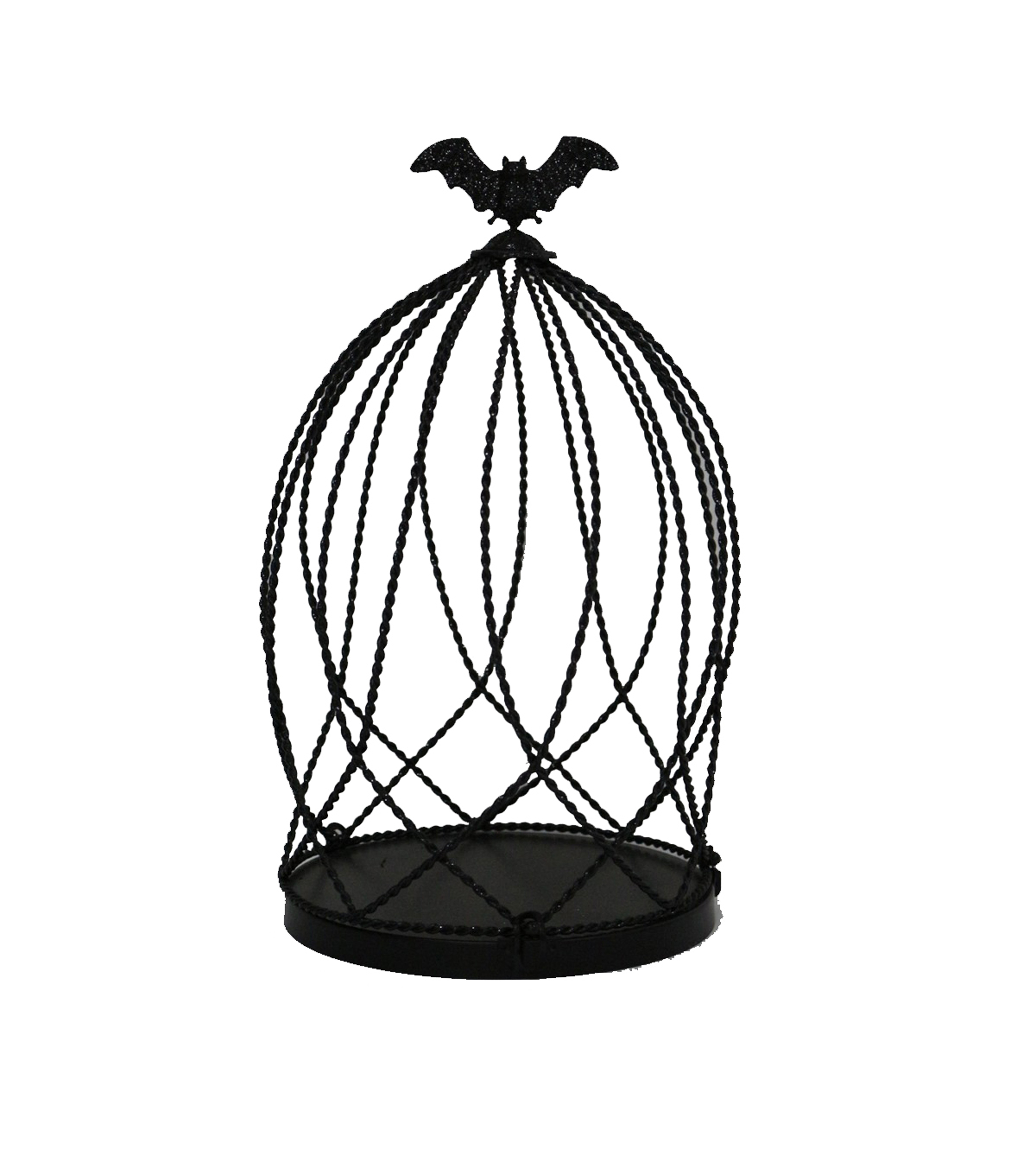 Maker\u0027s Halloween Large Cloche Birdcage-Black