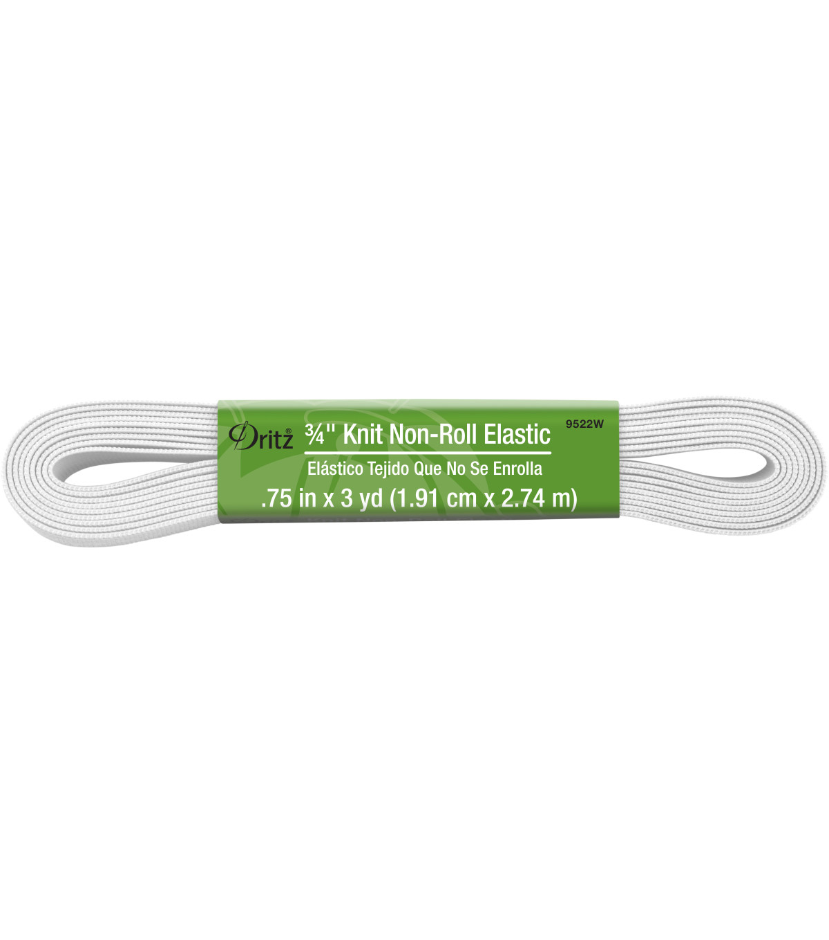 Dritz 0.75\u0022 Wide x 3Yds Knit Non Roll Elastic White