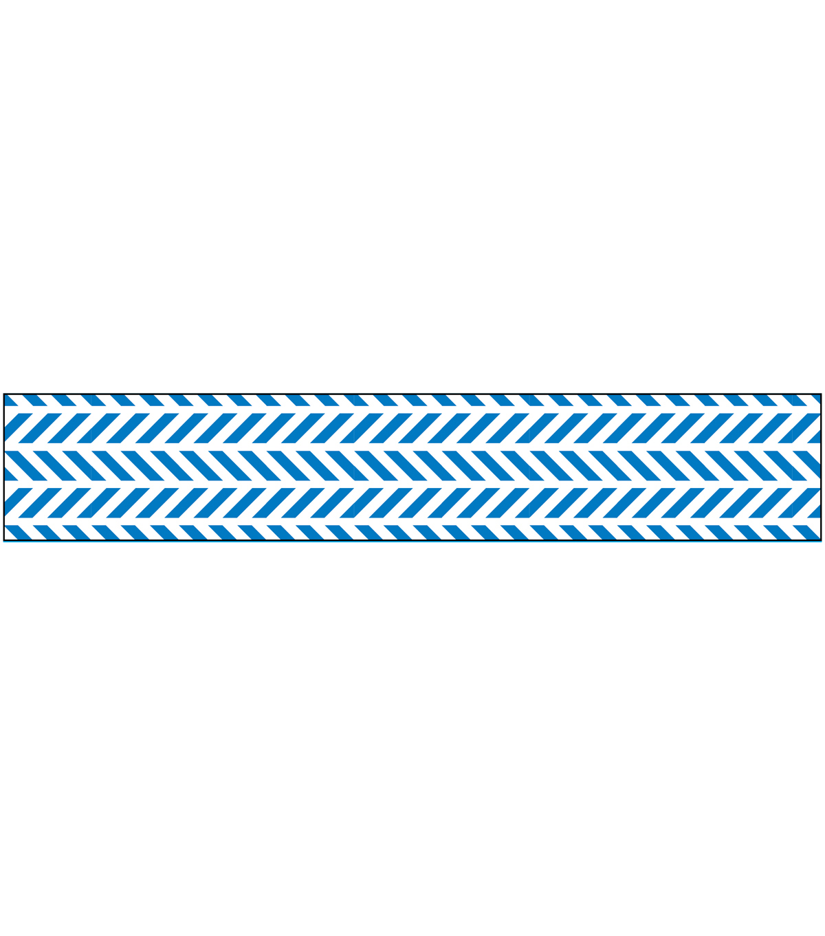 American Crafts™ Glitter Ribbon 0.63\u0022x3yds-Blue Chevron