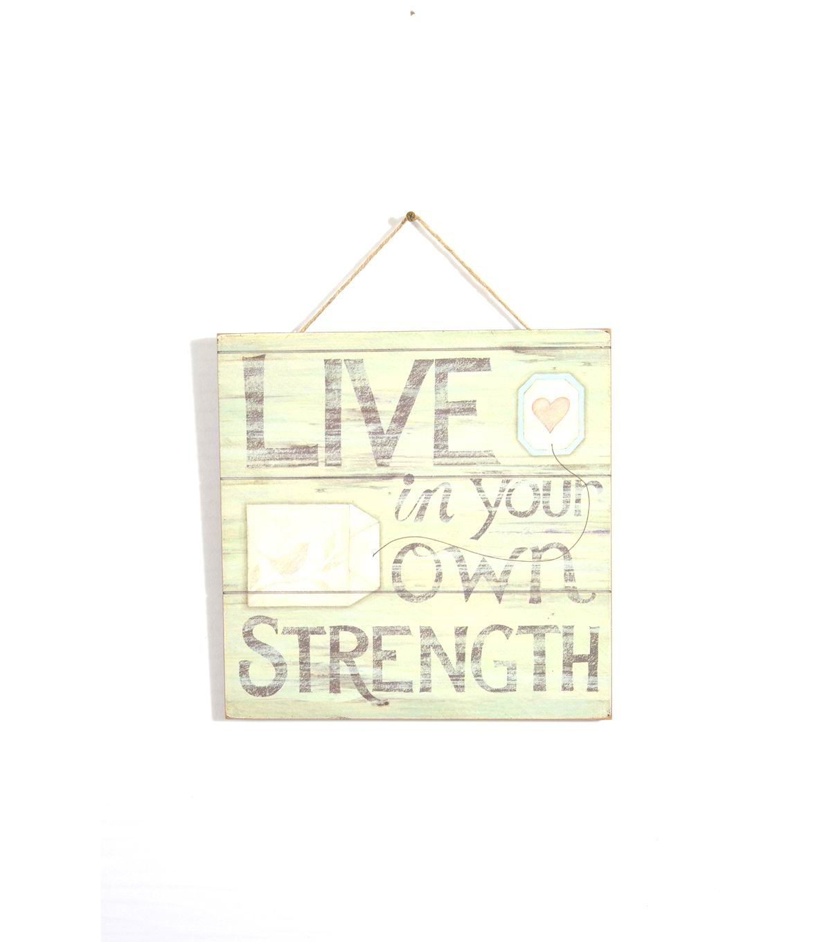 Susan Winget Wall Plaque-\u0022Live In Your Own Strength\u0022