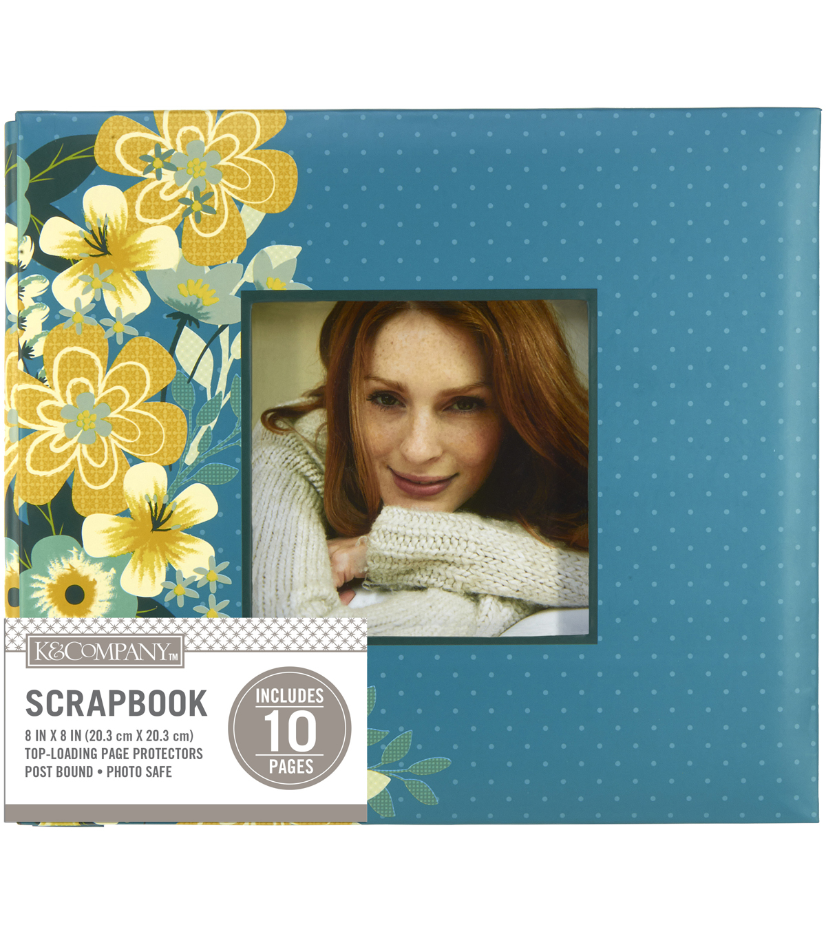 "K&Company Mod Floral 8""x8"" Window Scrapbook"