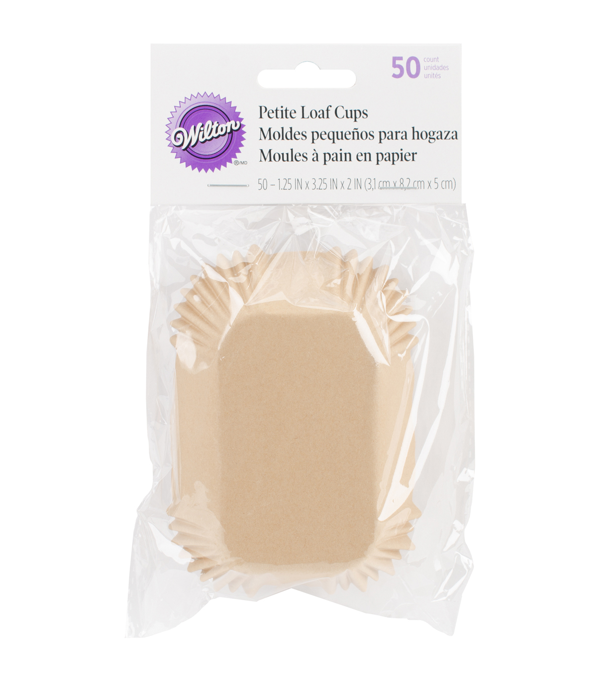 Wilton® Petite Loaf Cups-White 50/Pkg
