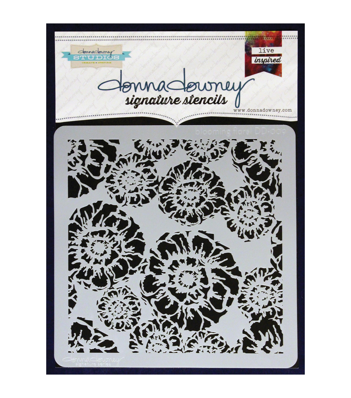 Donna Downey Signature Blooming Floral Stencils
