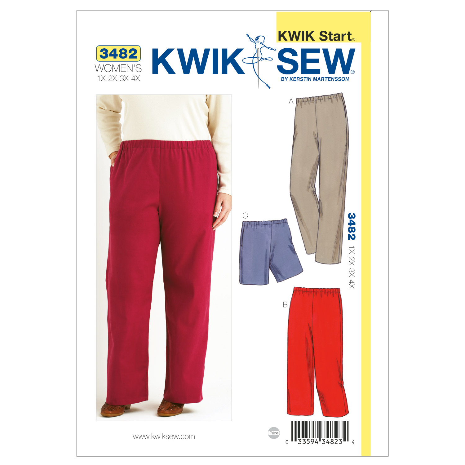 Kwik Sew Misses Pants-K3482