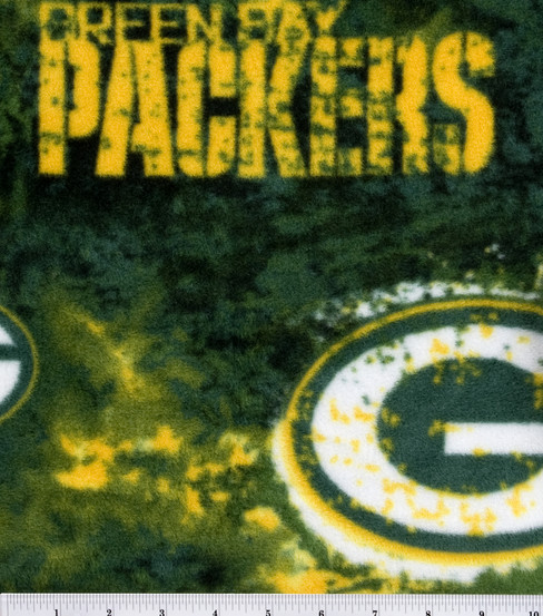 Green Bay Packers Fleece Fabric 58\u0027\u0027-Logo