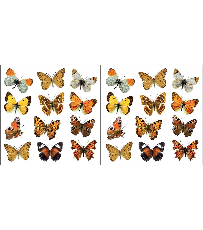 Superieur Home Decor Colorful Butterflies Wall Decals, 24 Piece Set