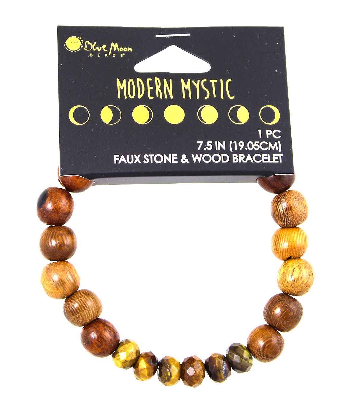 Blue Moon Beads® Modern Mystic  Faux Brown Stone & Wood Bracelet