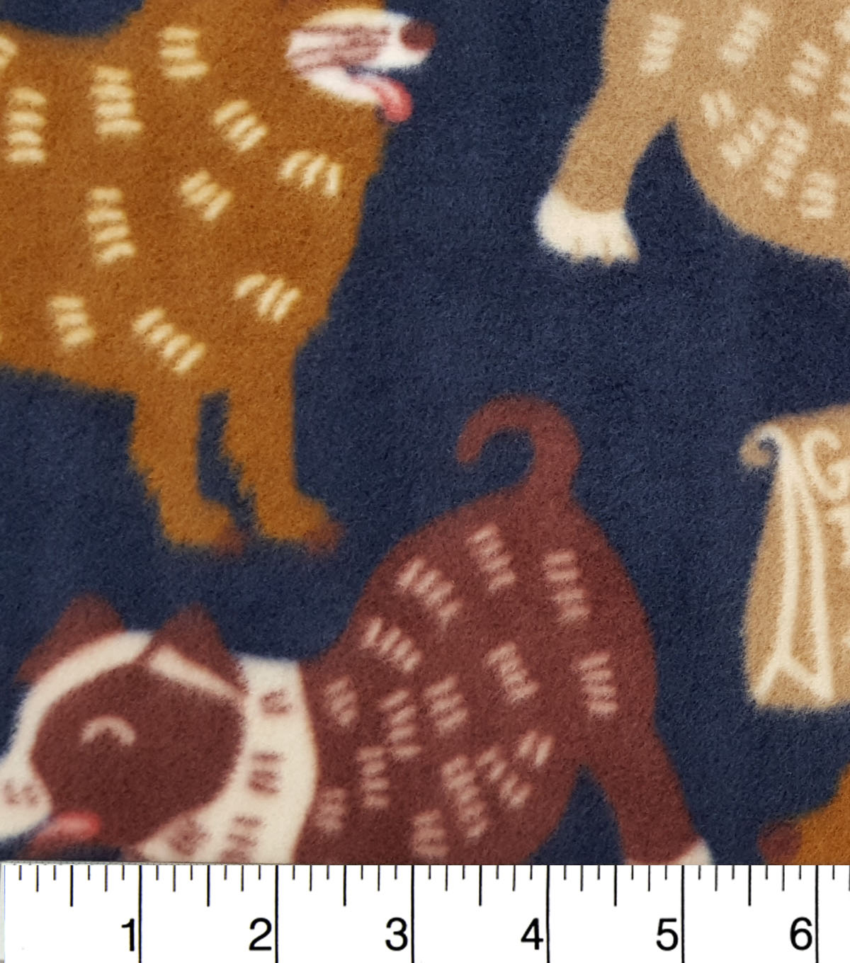 Anti-Pill Fleece Fabric 59\u0022-Good Dog Navy
